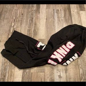 Victoria's Secret pink black sweatpants
